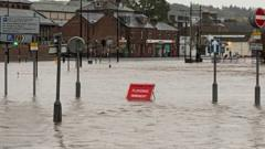 Whitesands area of Dumfries flooded