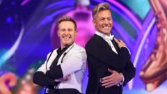 "Ian ""H"" Watkins and Matt Evers at the launch of Dancing on Ice"