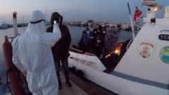 The Turkish coast guard rescued two rafts in the early hours of 30 November