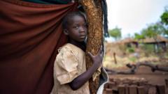 South Sudanese refugee girl