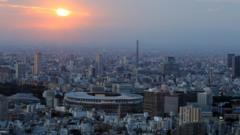 Tokyo with Olympic Stadium.