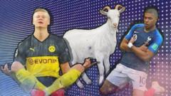 Haaland, a goat, Mbappe.