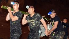 Rescue teams in Thailand cave