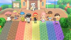Animal-crossing-characters-rainbow-road.