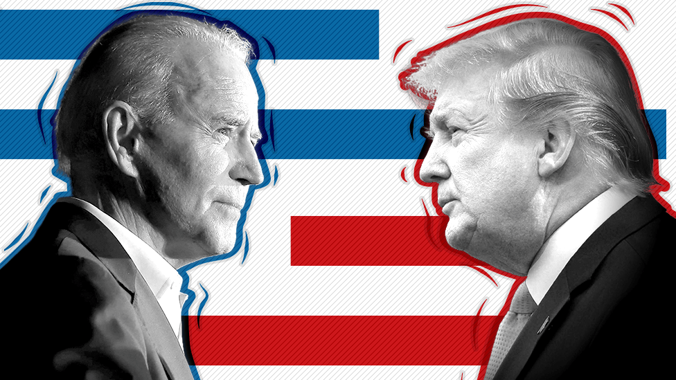 Promo image showing Joe Biden and Donald Trump
