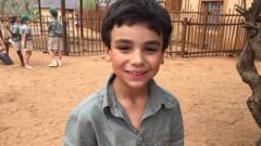 William shares his playground with wild animals
