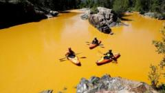 Toxic wastewater leaks into a Colorado river