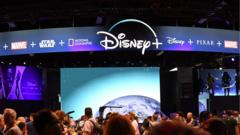 Disney+ stand at an event