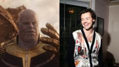 Thanos and Harry Styles.