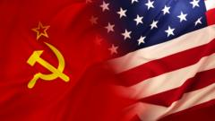 USSR and US flag.