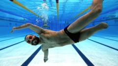 Disabled swimmer