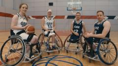 GB wheelchair basketball players