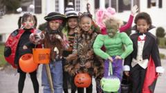 kids in halloween outfits