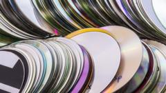 CDs lying in a pile