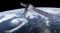 Satellite-called-Aeolus-above earth