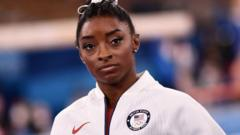 Simone Biles during the women's team final at Tokyo 2020