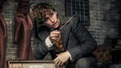 Eddie Redmayne as Newt Scamander in Fantastic Beasts: The Crimes of Grindelwald