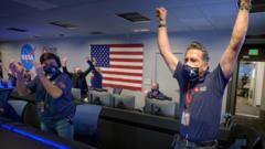 Nasa scientists celebrate