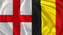 St Georges Flag and the Belgian flag