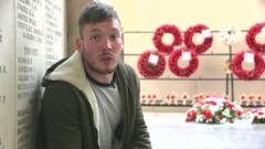 Martin at Somme memorial