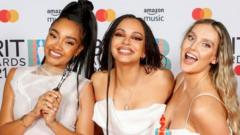 Little Mix with their 2021 Brit Award