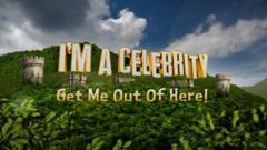 I'm A Celebrity logo with a castle