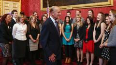 Duke of Edinburgh at an award event