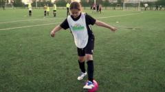 Newsround meets the Wildcats: the young girls playing football for the first time