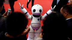 The latest robot models have been displayed in Beijing