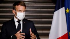 Image shows Emmanuel Macron