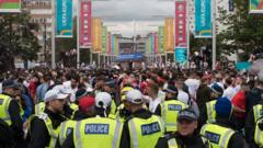 police at Wembley stadium.