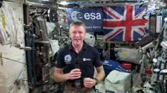 Tim Peake on board the ISS