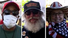 Trump supporters at march in Washington DC