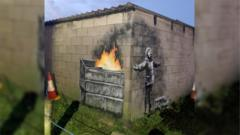 The new Banksy work that has appeared in Port Talbot.