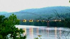 Bridge being destroyed