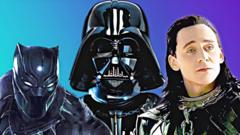 Black Panter, Darth Vader, Loki.