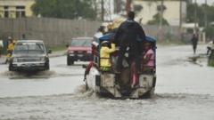 Heavy rain has already caused huge damage