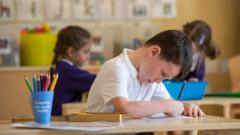 Children at a school in Norfolk