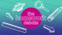 Homework debate graphic