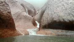 Waterfalls on Uluru