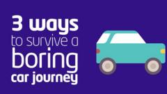 3 ways to survive a boring car journey