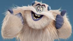 Animated yeti from the movie Smallfoot