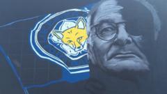 Mural featuring manager Claudio Ranieri