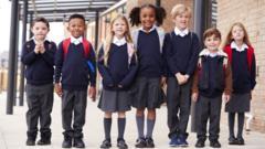 Kids in school uniform