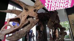 A dinosaur bone and the strange logo