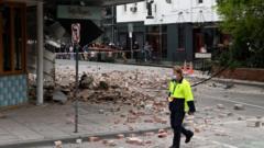 earthquake damage in Melbourne, Australia