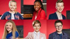 The six finalists Lilia, Sienna-Leigh, Harry, Daniel, Yaroslav and Drew