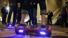 An IO Hawk model being demonstrated at a gadget show in Las Vegas