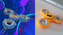 A spaceship and a fidget spinner.