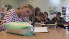 German kids at school
